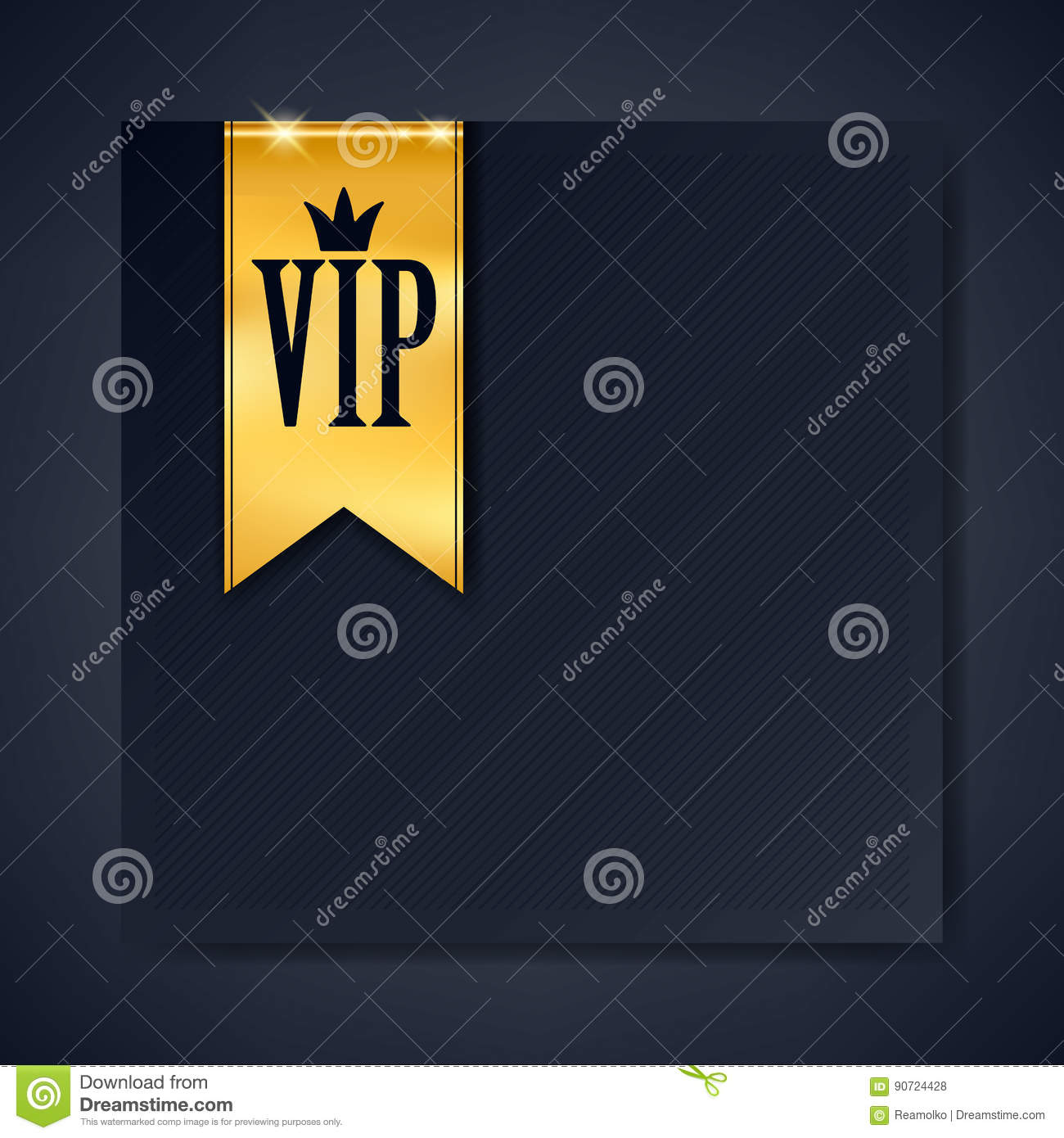 Vip club party premium invitation card poster flyer stock vector vip club party premium invitation card poster flyer black and golden design template with copy space golden ribbons decorative vector background spiritdancerdesigns Image collections
