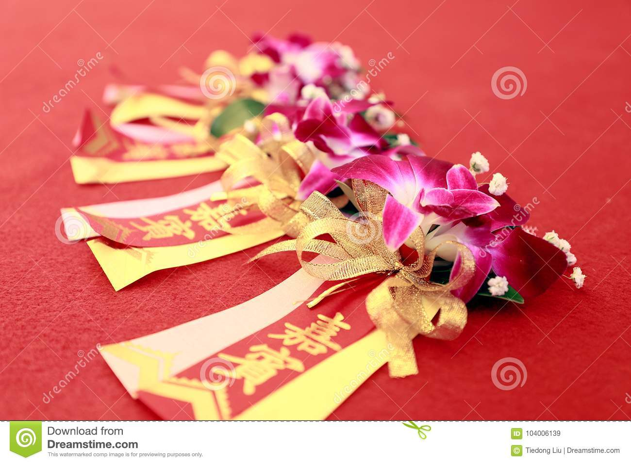 VIP corsage stock image  Image of guests, wealth, hosts - 104006139
