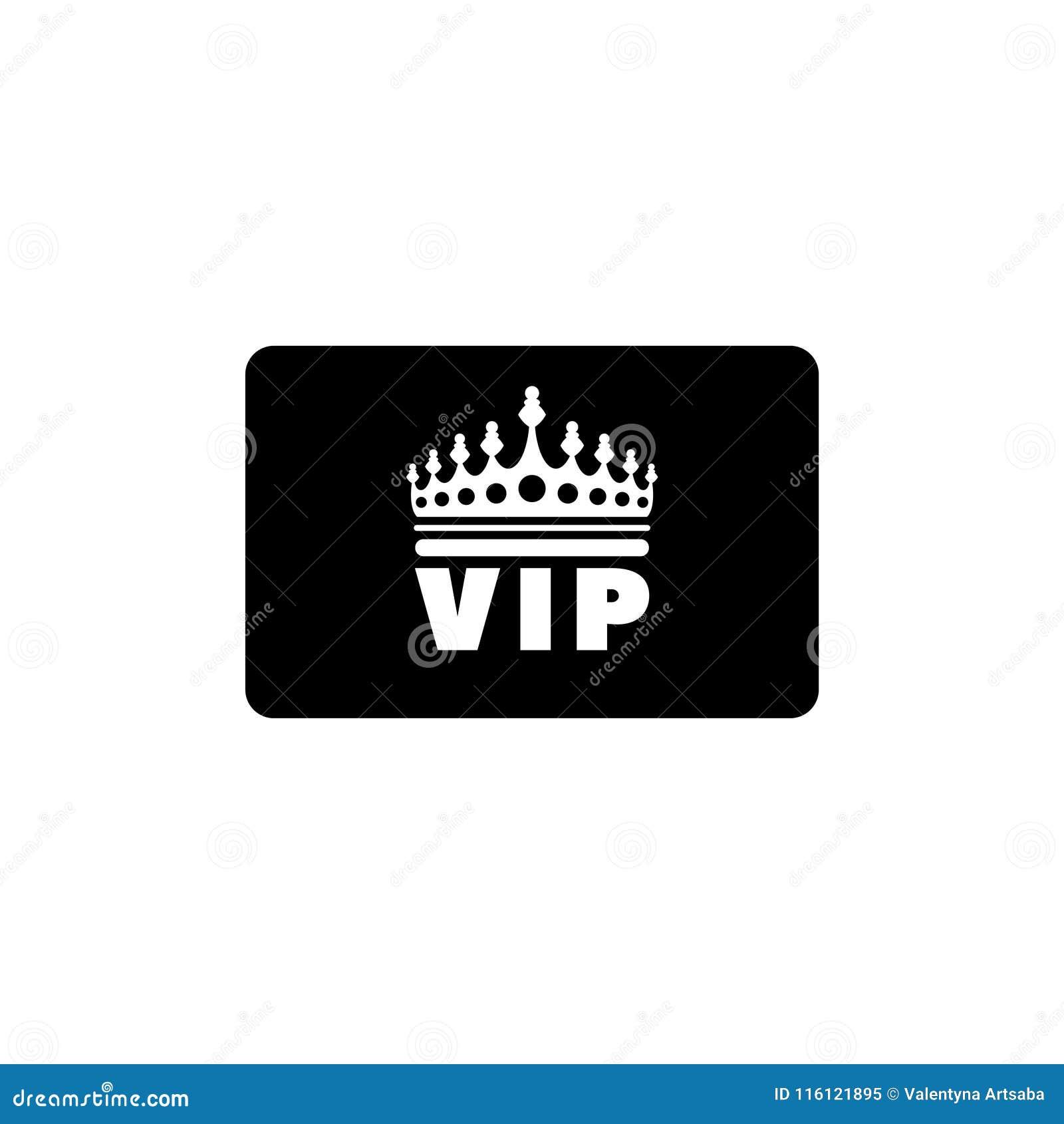 VIP Credit Card Flat Vector Icon