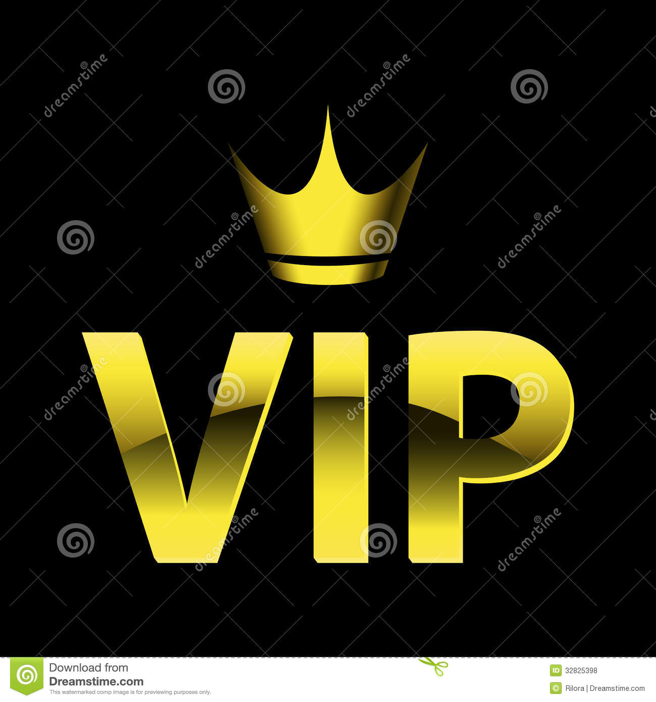 Vip Design Stock Vector Illustration Of Modern Crown 32825398
