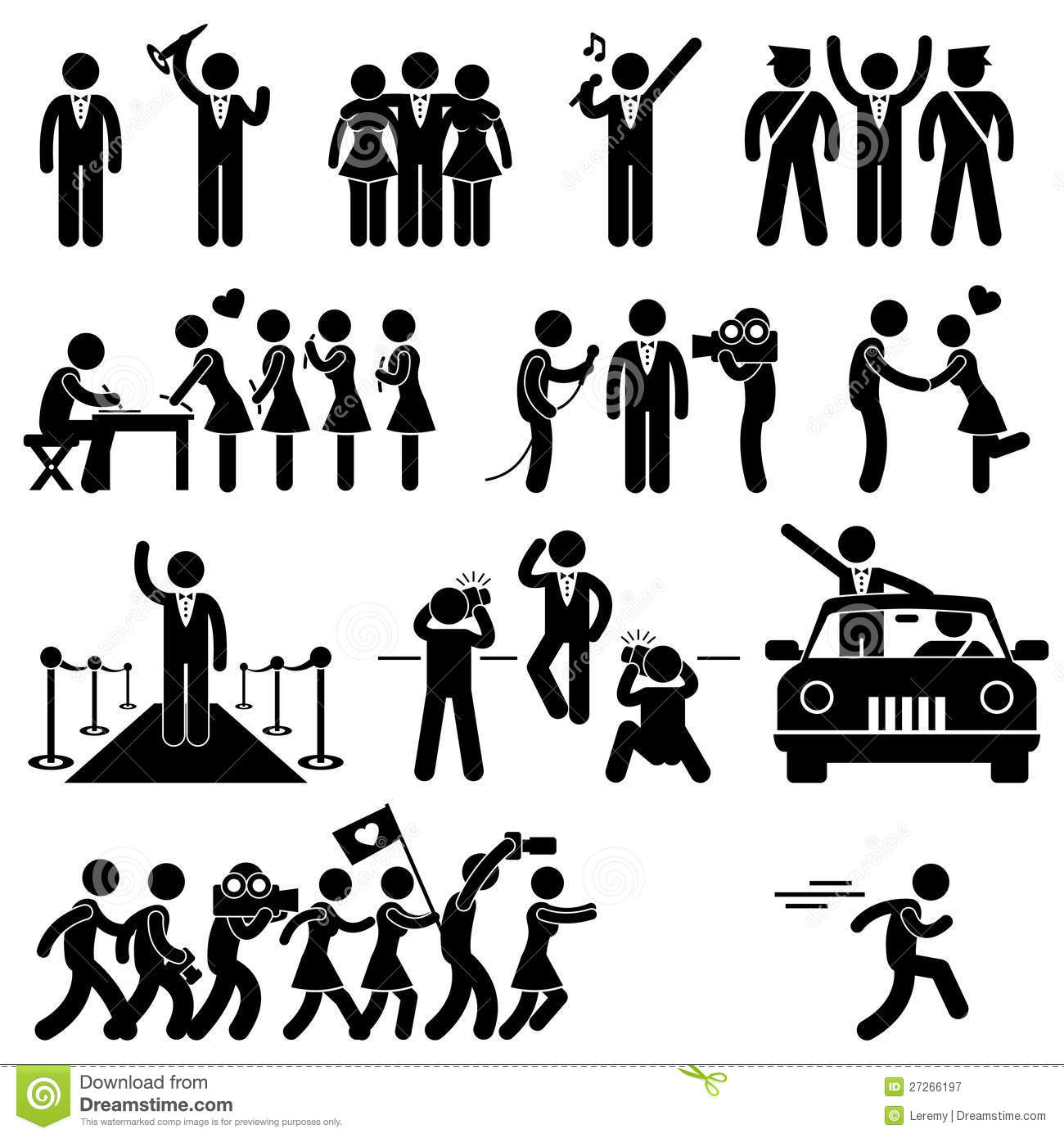 VIP Idol Celebrity Star Pictogram Royalty Free Stock Photography ...