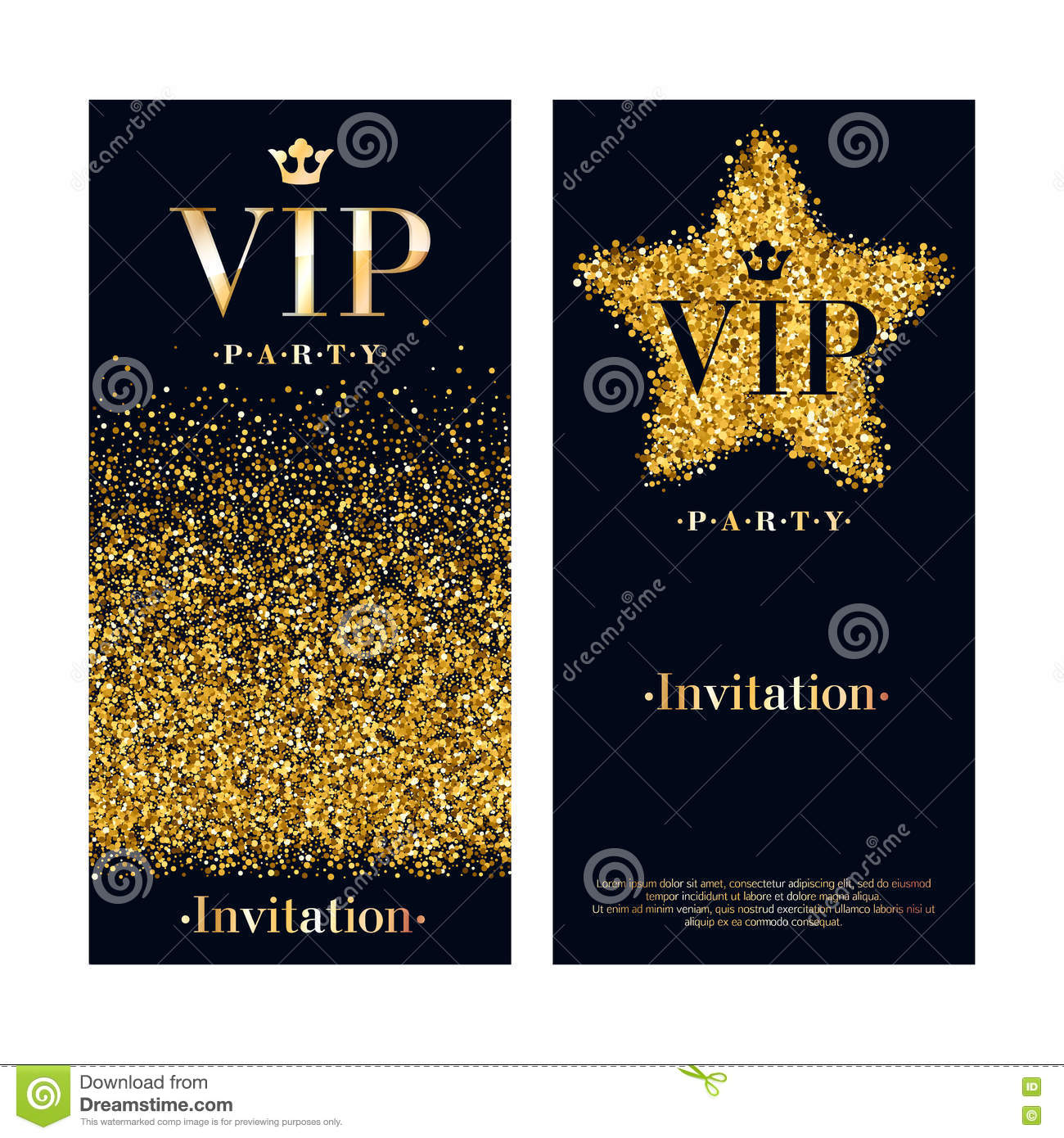 vip invitation card premium design template stock vector