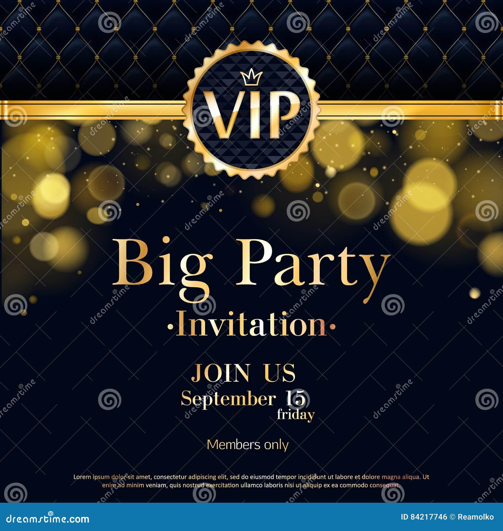 Vip Invitation Card Premium Design Template Stock Vector