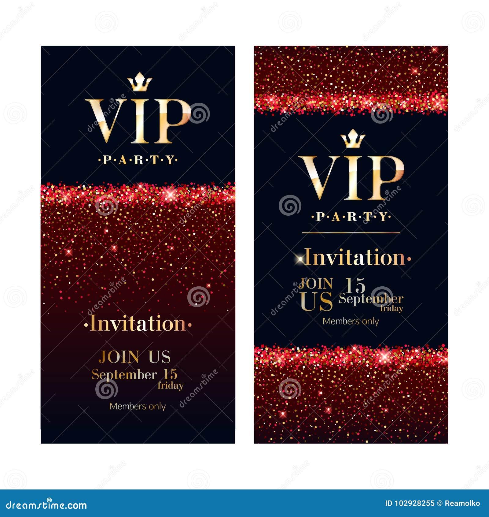 VIP Invitation Card Premium Design Template. Stock Vector ...