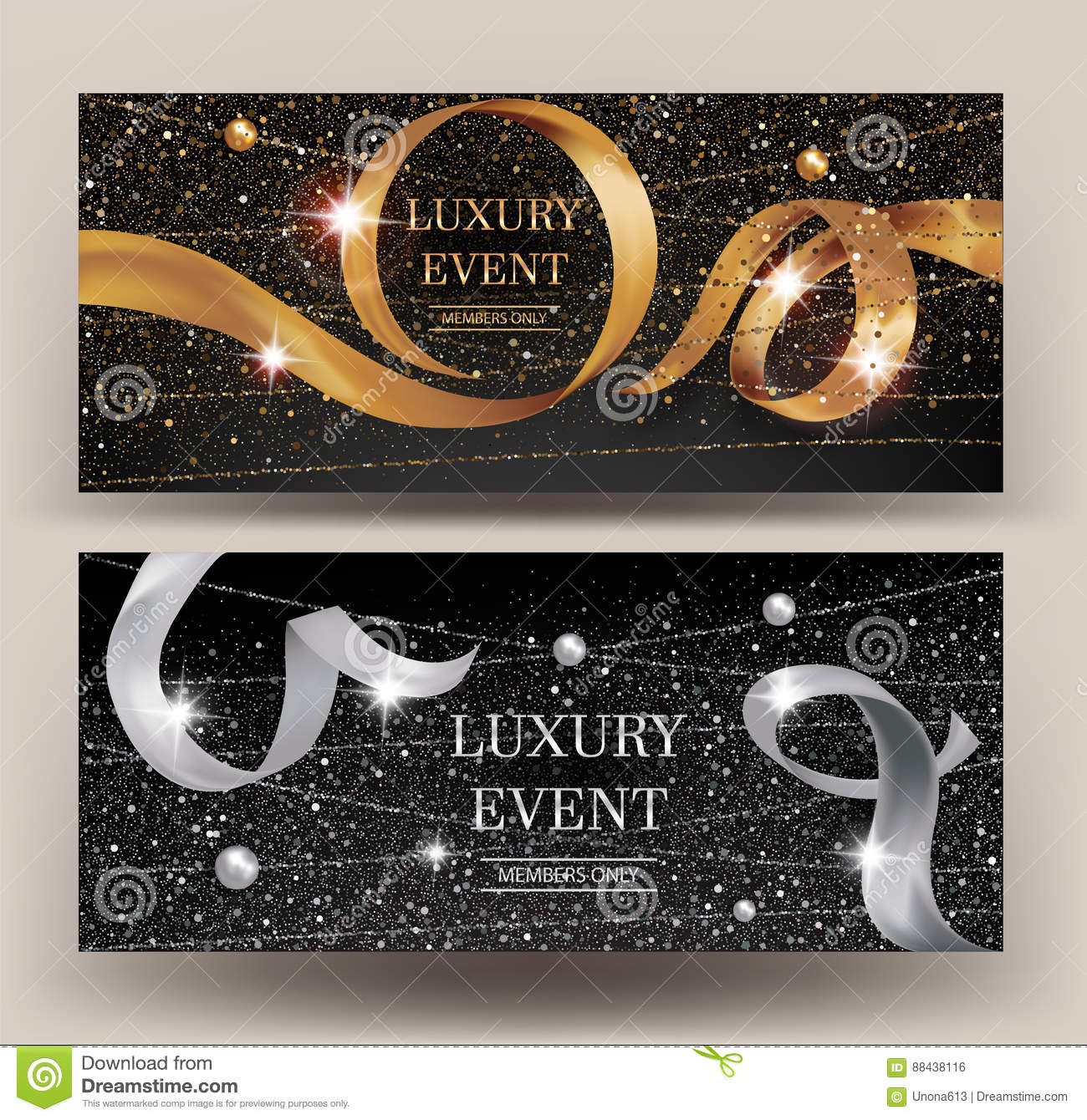 Sparkling Silver Banners Business Advertising Banners