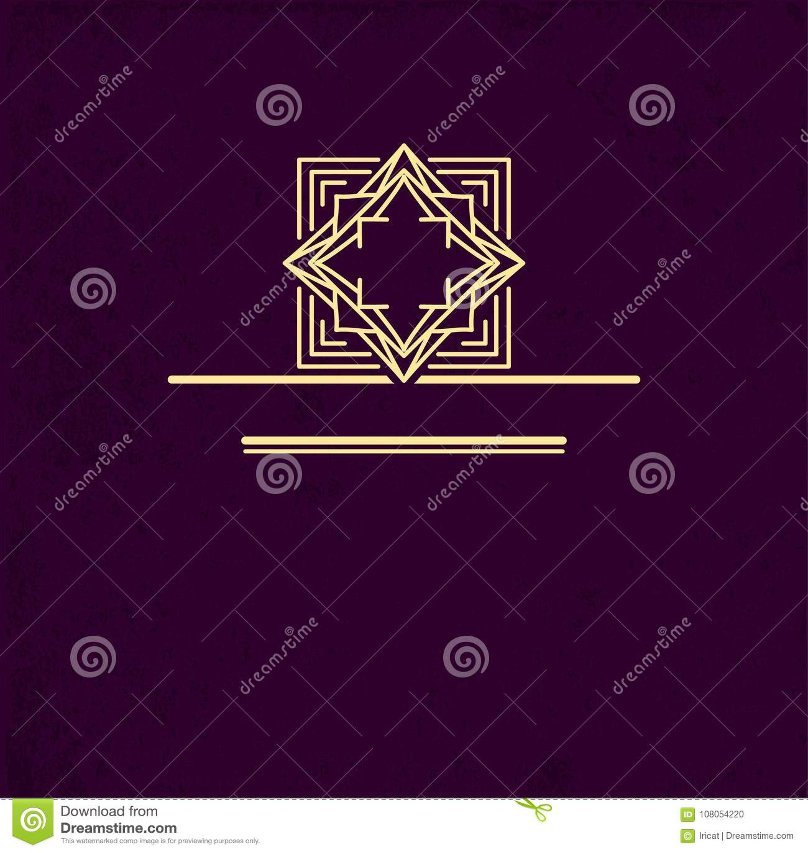 Vip logo design geometric linear monogram template mark of geometric linear monogram template mark of distinction universal business sign wajeb Gallery