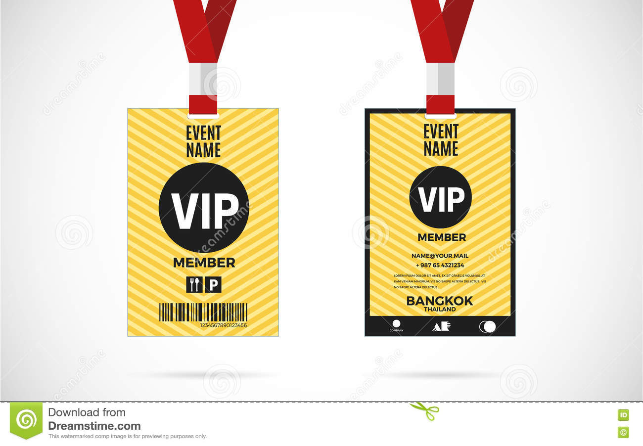 Vip Member Card Set Vector Design Illustration Stock Vector ...