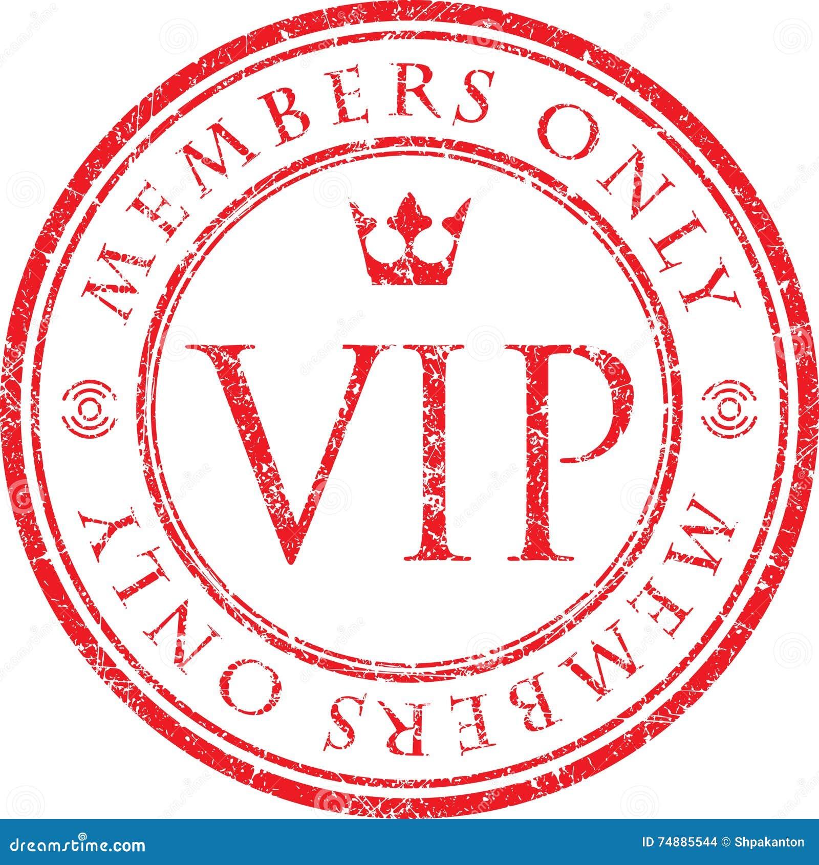 VIP Membros somente Carimbo de borracha vermelho do estilo do grunge do vetor com CTOC