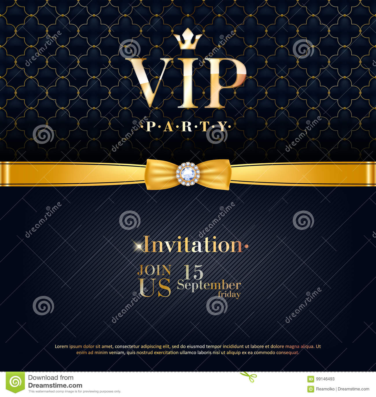 VIP Invitation Premium Design Background Template. Stock Vector ...