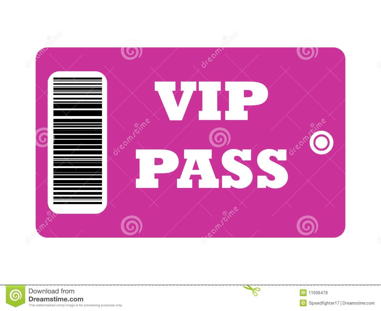 VIP_Pass Royalty Free Stock Images - Image: 11936479