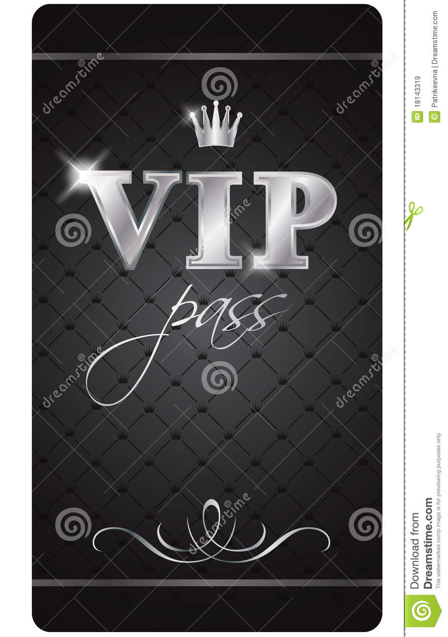 Vip pass stock vector Illustration of offer person 18143319