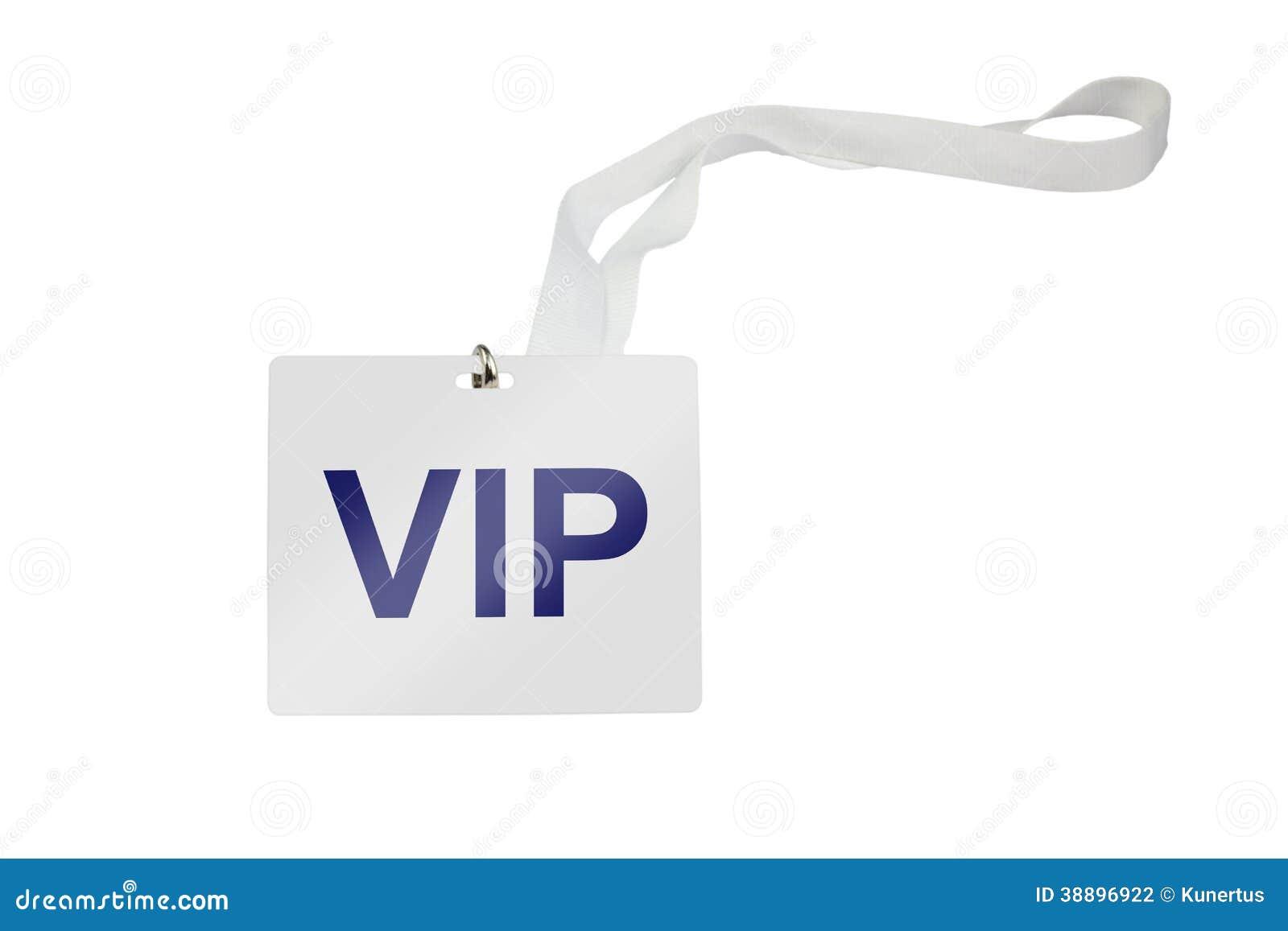 VIP Pass Stock Photo