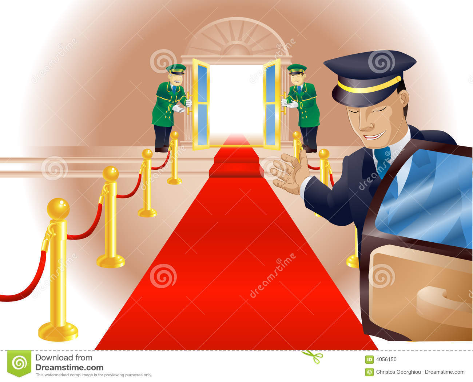 Vip Red Carpet Treatment Stock Photo Image 4056150
