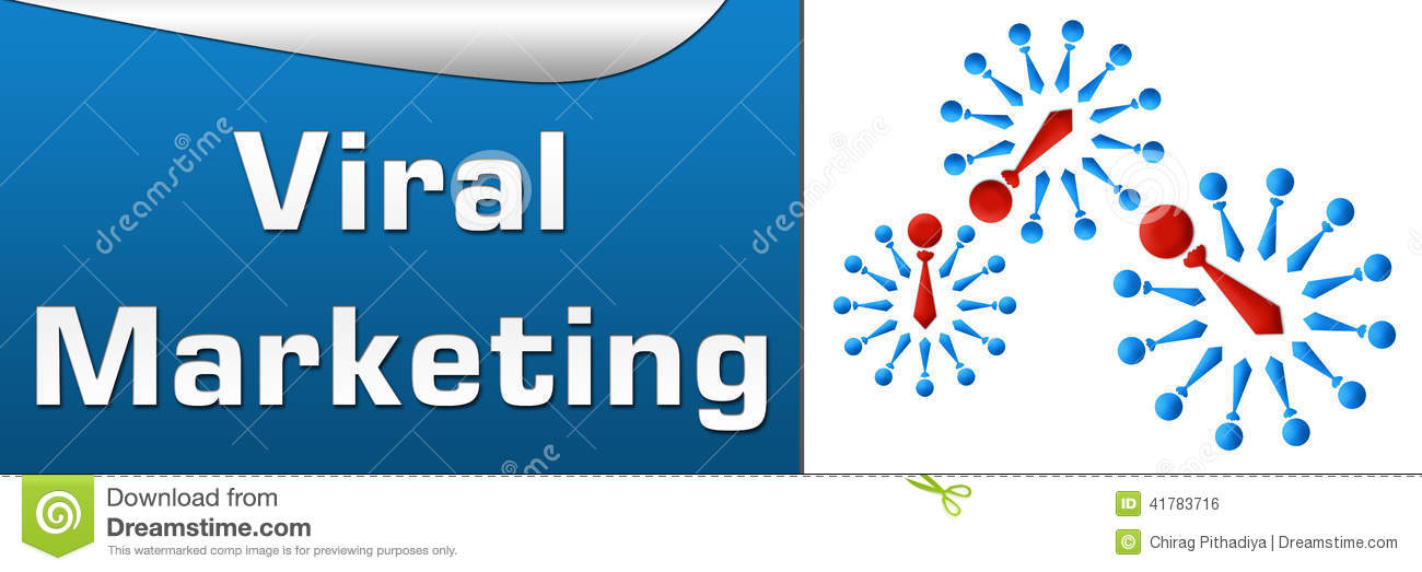 Viral Marketing Blue Horizontal Stock Illustration Illustration Of
