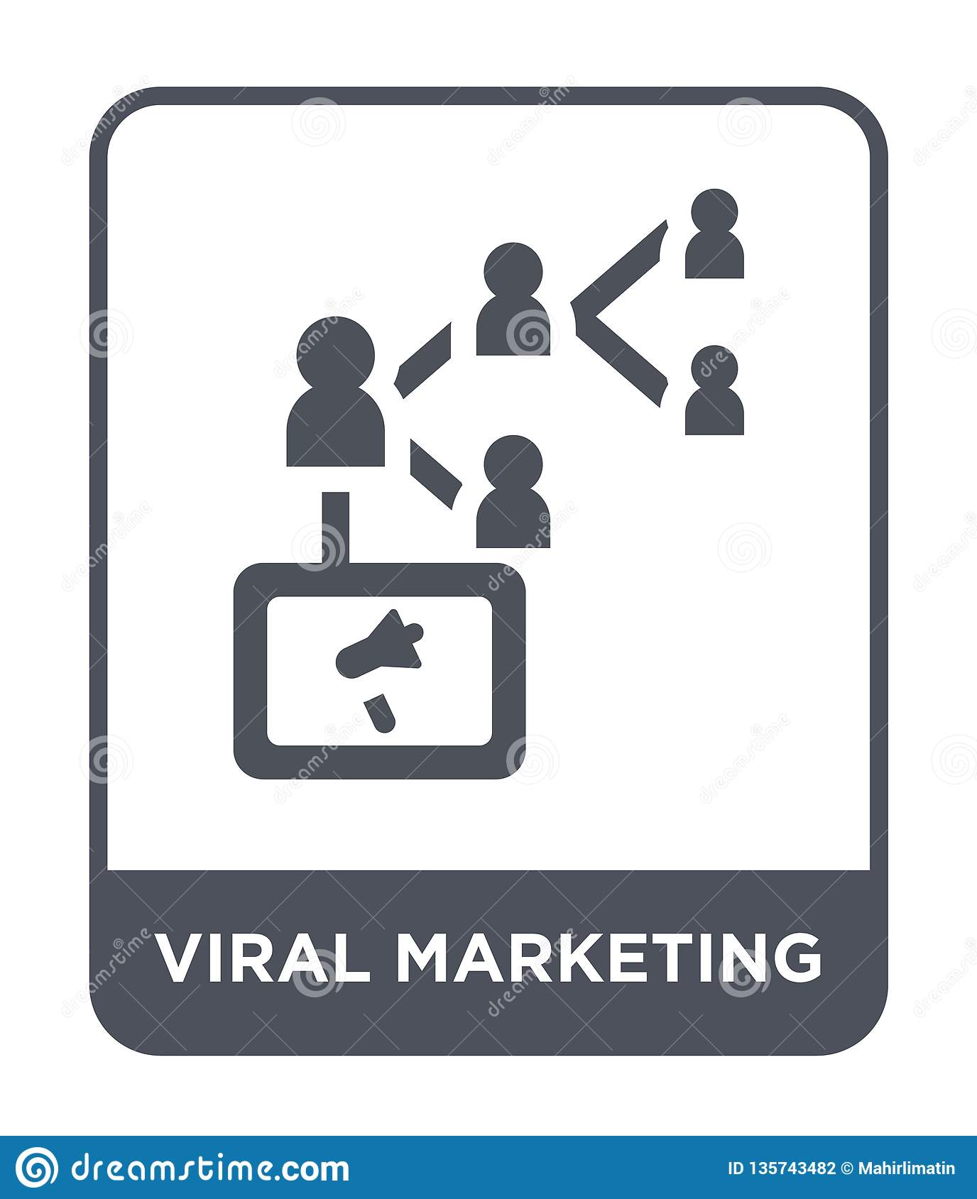 viral marketing icon in trendy design style. viral marketing icon isolated on white background. viral marketing vector icon simple