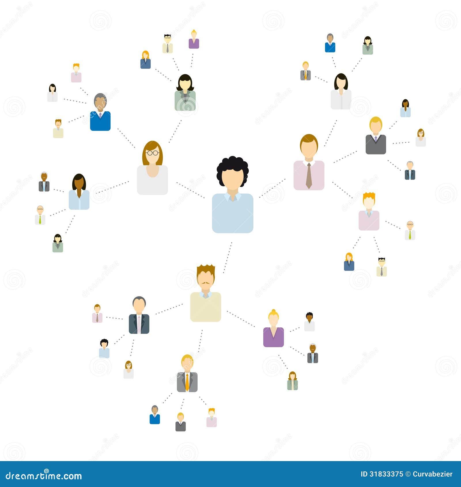 Viral Times Web: Viral Network / Communication Stock Illustration