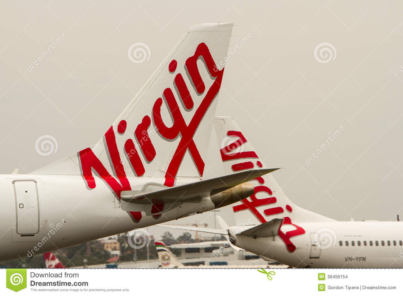 Virgin Australia Airlines logos on aircraft.