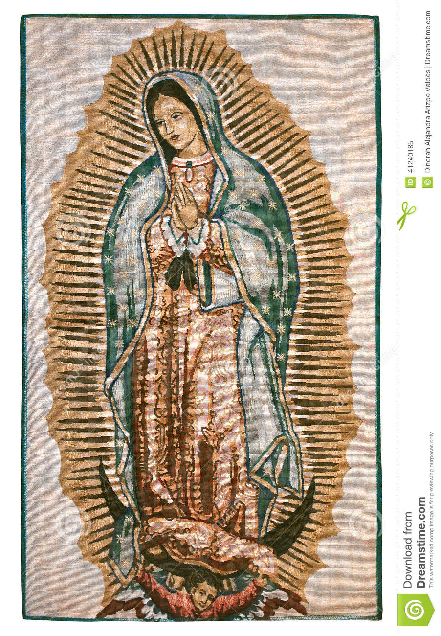 Our lady of Guadalupe artistic embroidery
