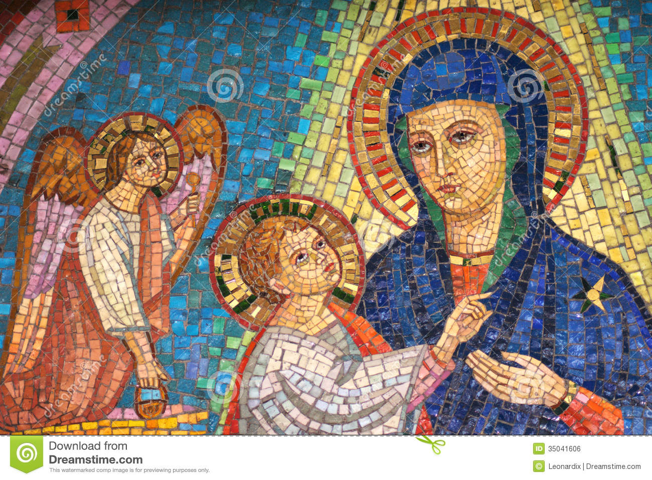 Virgin mary the child jesus and one angel stock photo - Child jesus images download ...