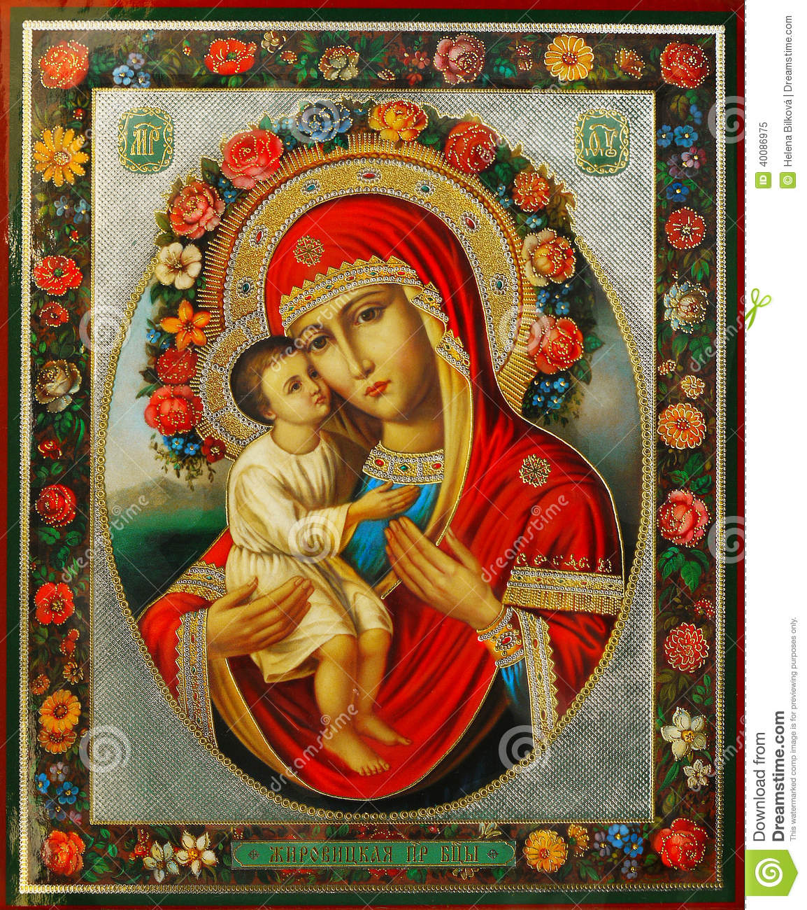 virgin mary and jesus stock photo   image 40086975