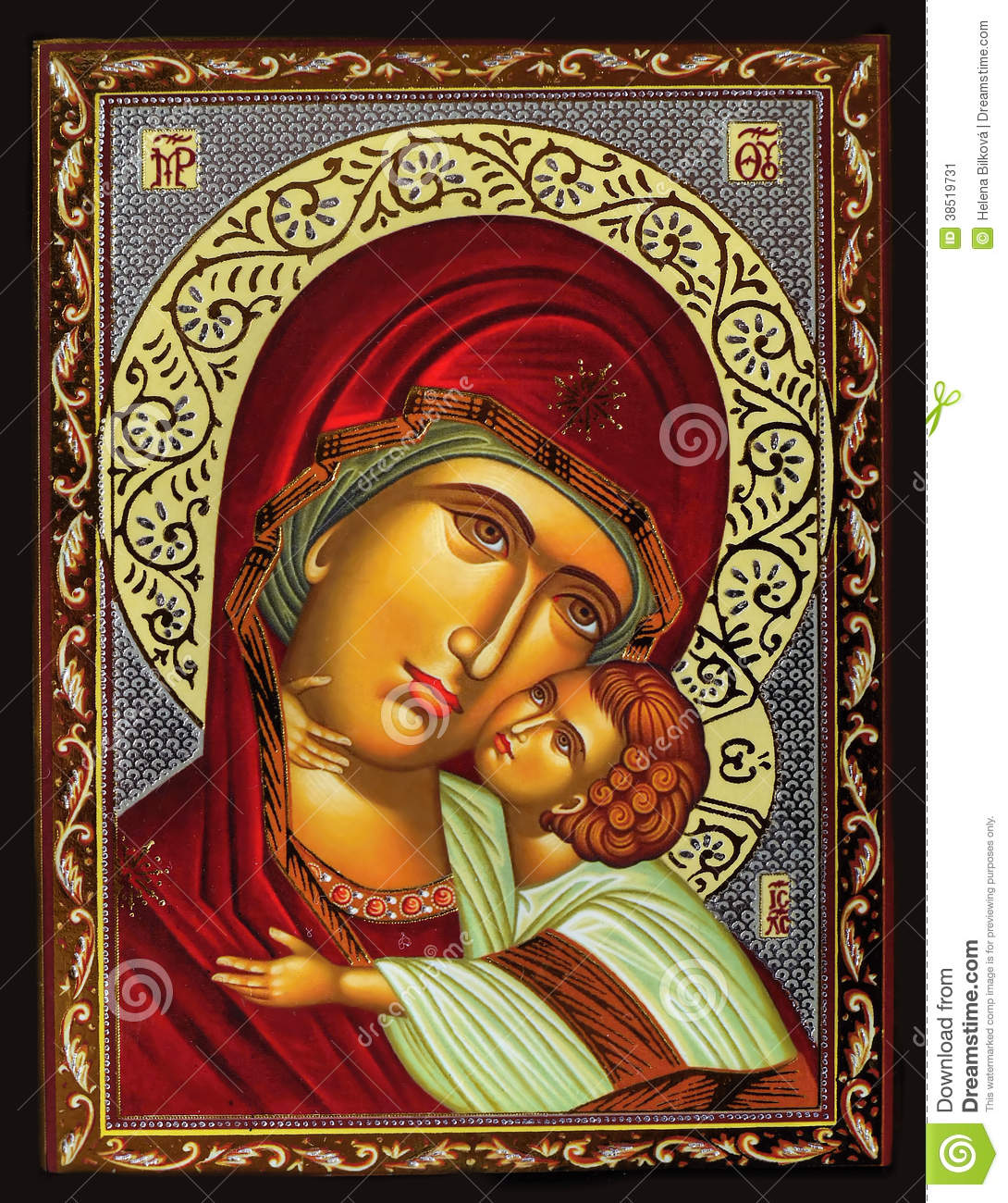 Virgin Mary And Jesus Stock Image Image 38519731