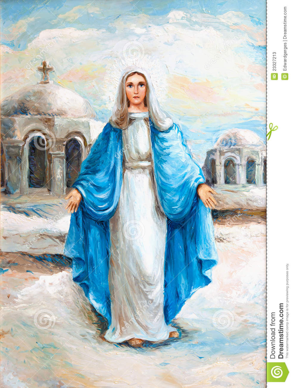 Virgin Mary Oil Painting Stock Photos - Image: 23327213
