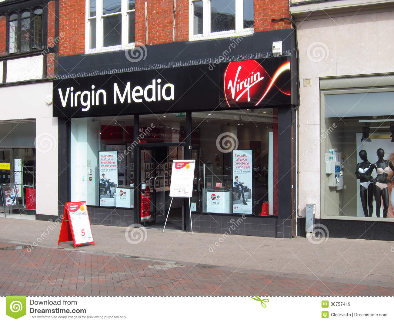 virgin media shop in leeds editorial photo. Black Bedroom Furniture Sets. Home Design Ideas