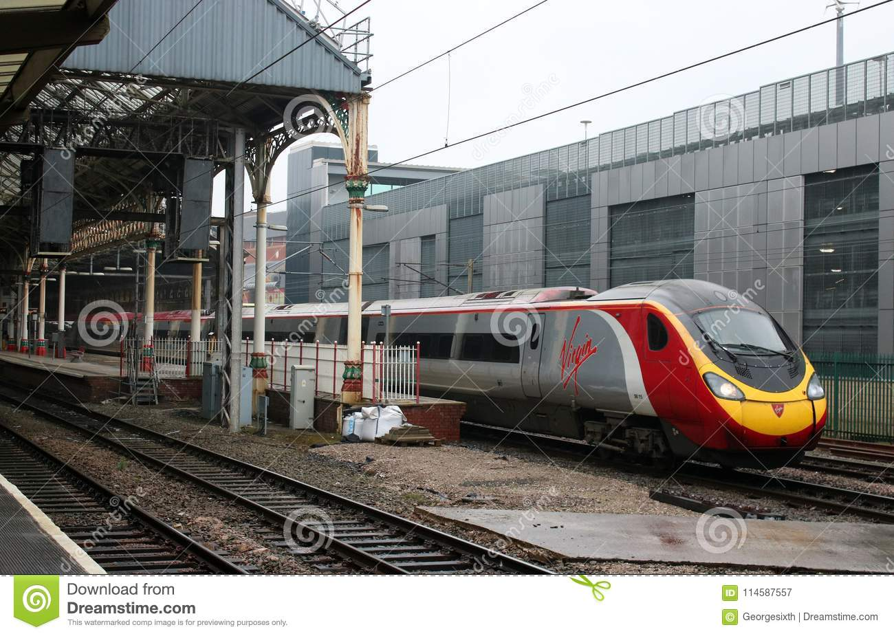 Virgin Pendolino Electric Multiple Unit Preston Editorial