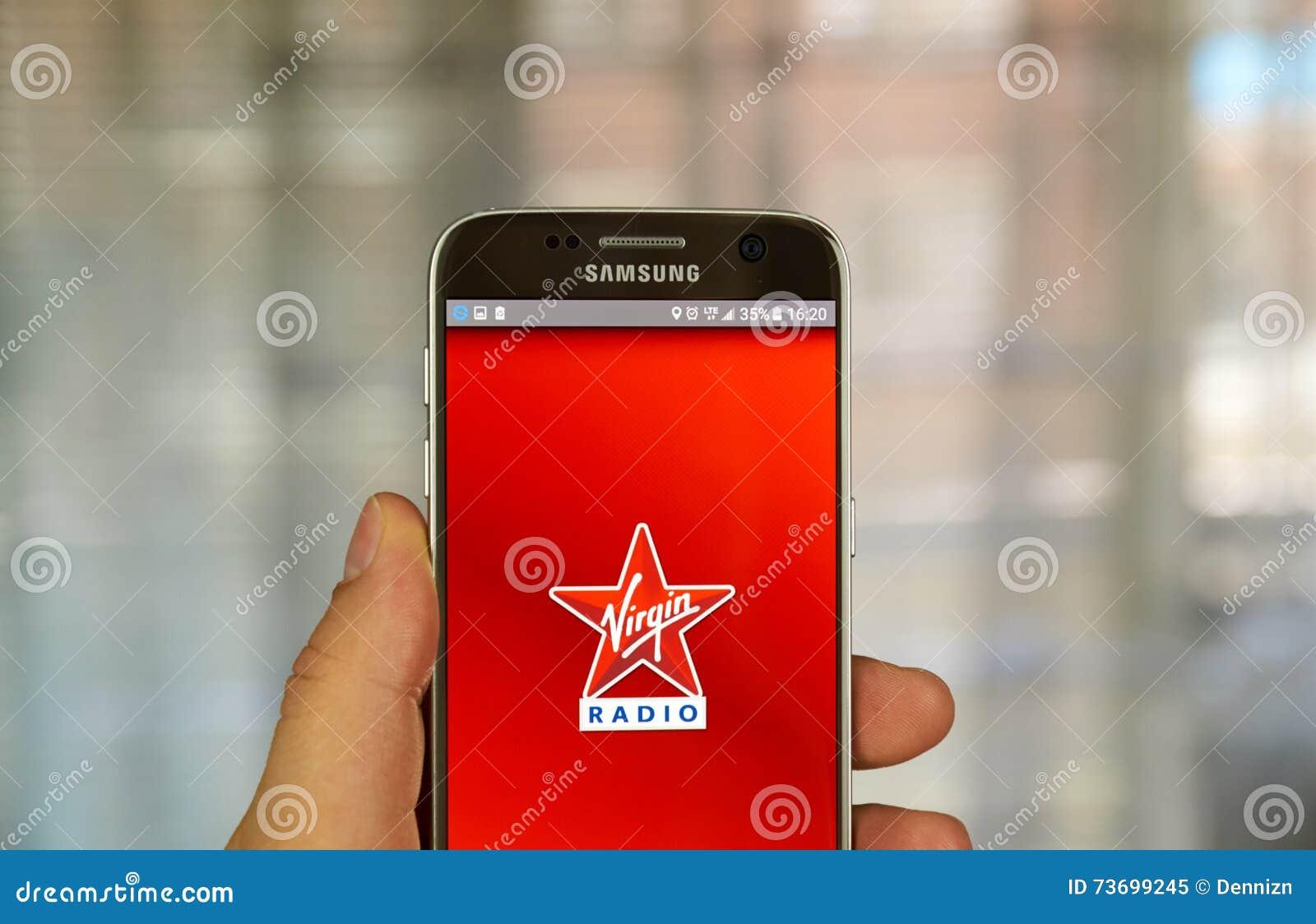 Virgin Radio android app editorial image  Image of listen