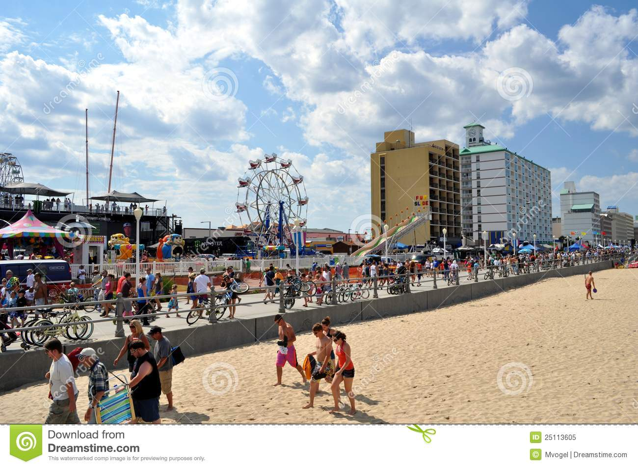 Virginia Beach Boardwalk editorial image  Image of travel - 25113605