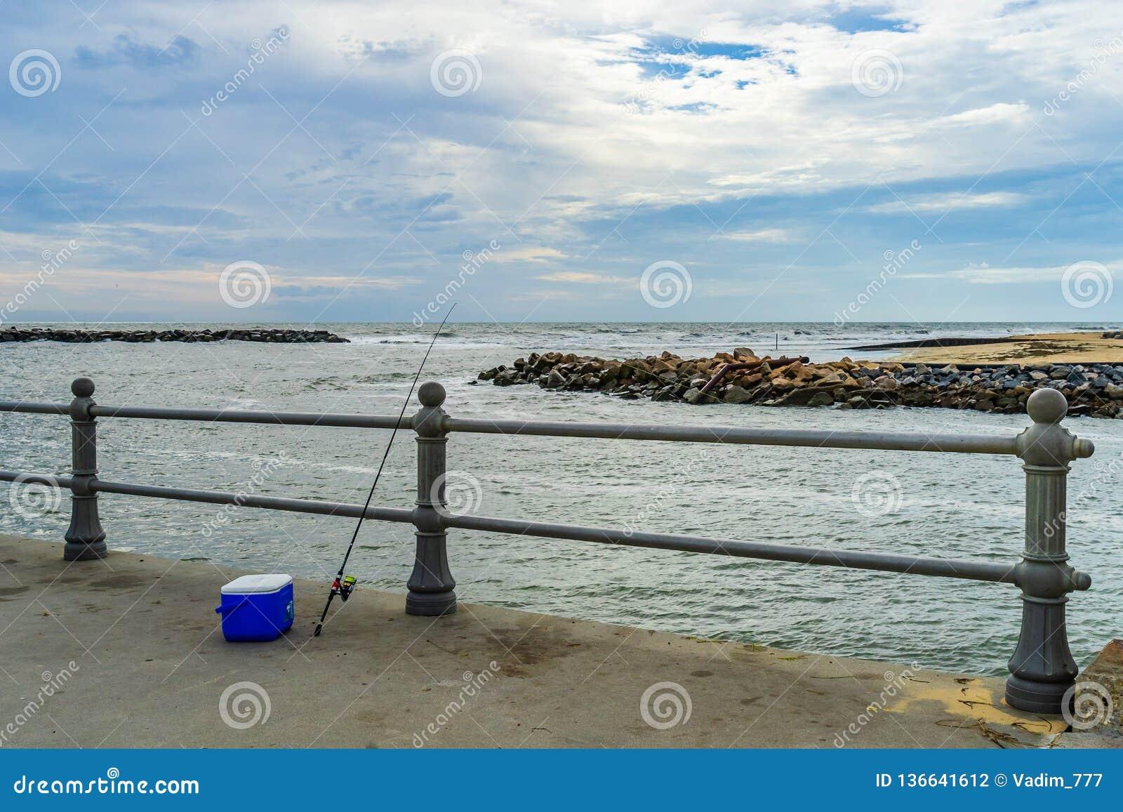 Virginia Beach Boardwalk, Virginia Beach parque de los E.E.U.U. - 12 de septiembre de 2017 isla del ojal
