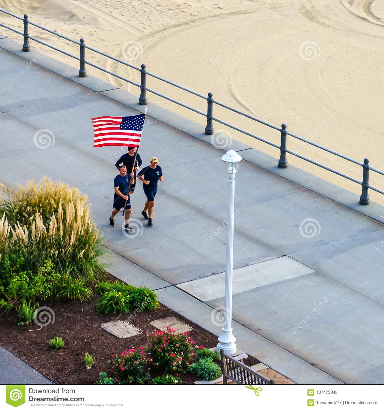 Virginia Beach Boardwalk, Virginia Beach, Virginia Editorial Stock