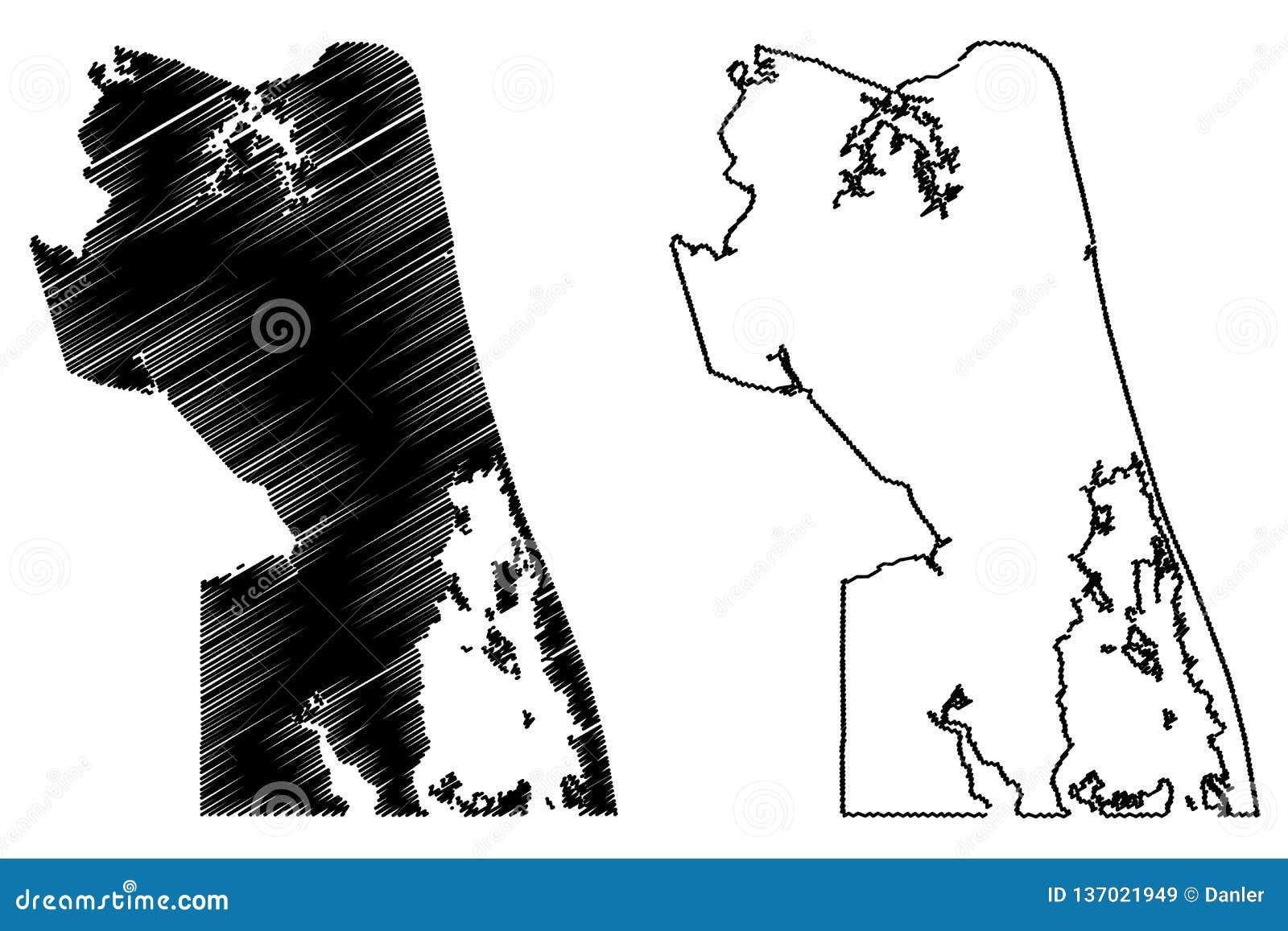 Virginia Beach City Map Vector Stock Vector - Illustration ...