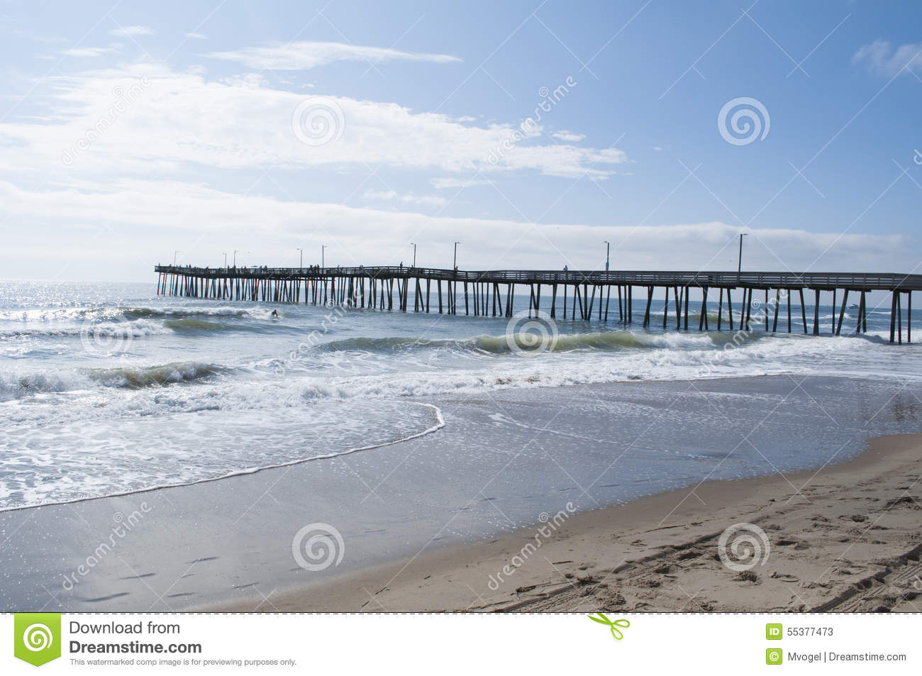 Virginia beach fishing pier editorial stock photo image for Surf fishing virginia beach