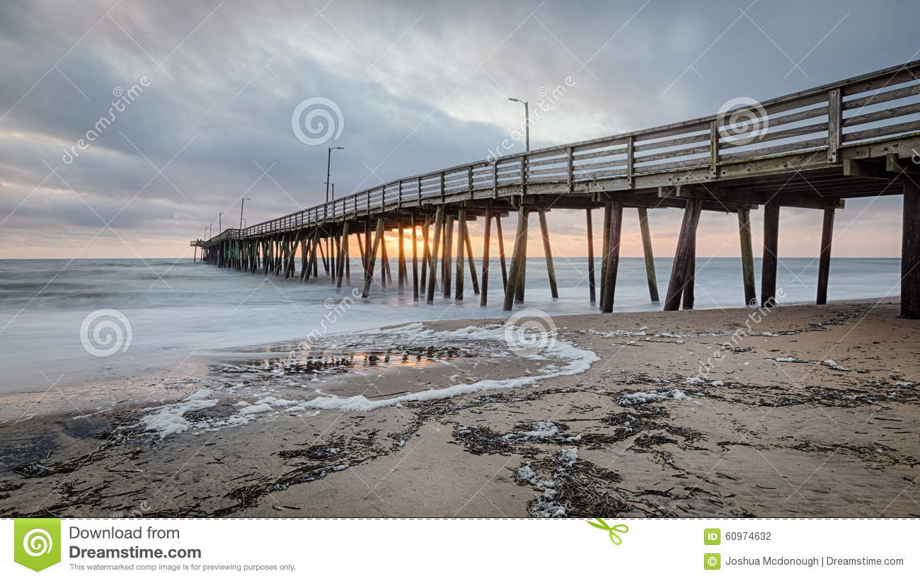 Virginia beach fishing pier stock photo image 60974632 for Va beach fishing pier