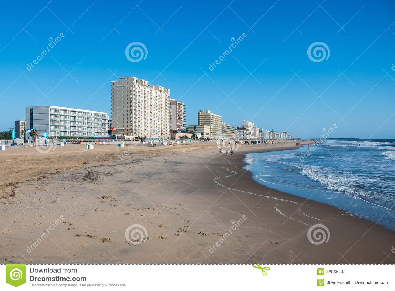 Virginia Beach Oceanfront With Fishing Pier, Hotels and Attractions