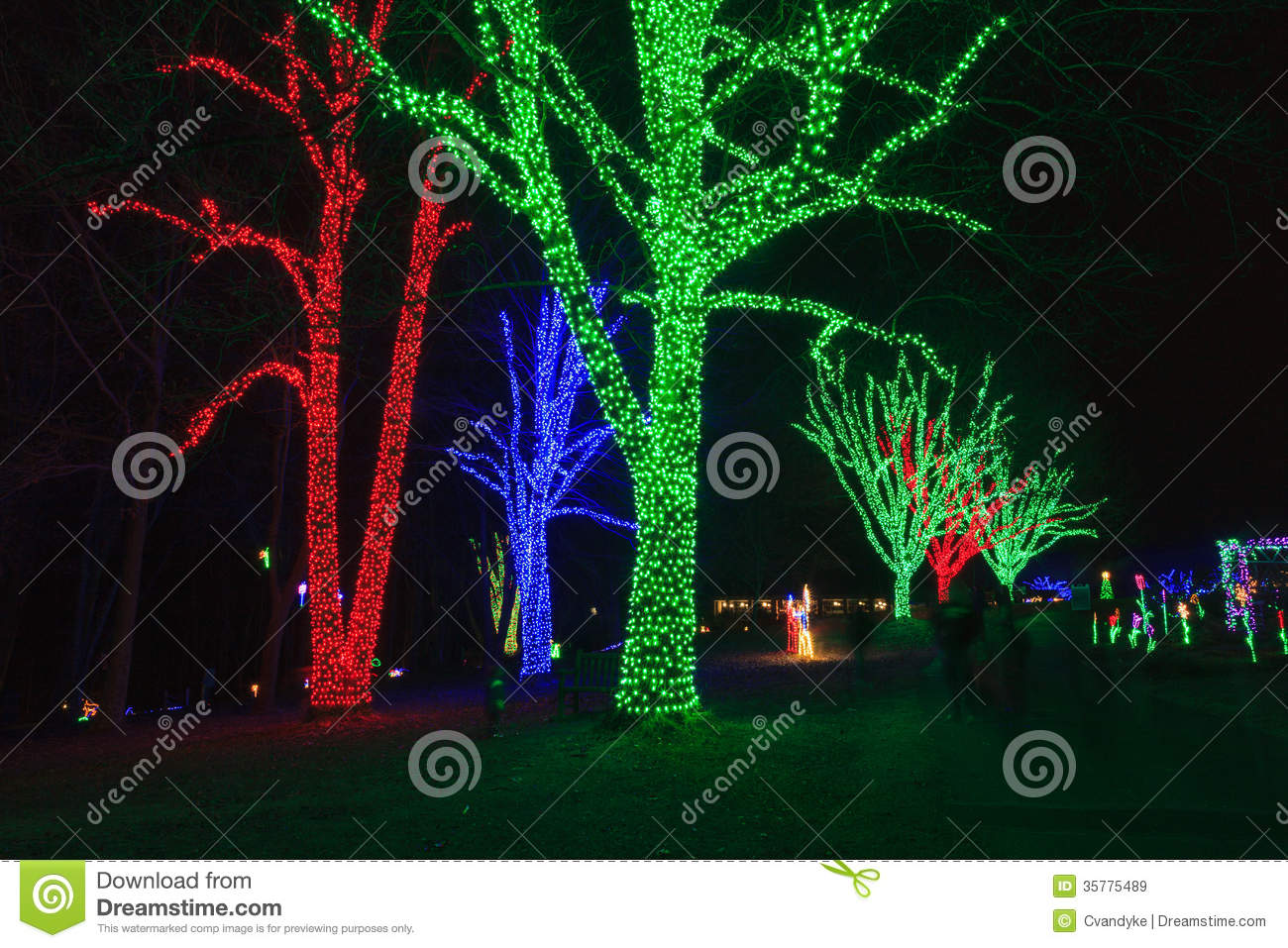 Virginia Holiday Festival Of Lights Stock Image - Image of night ...