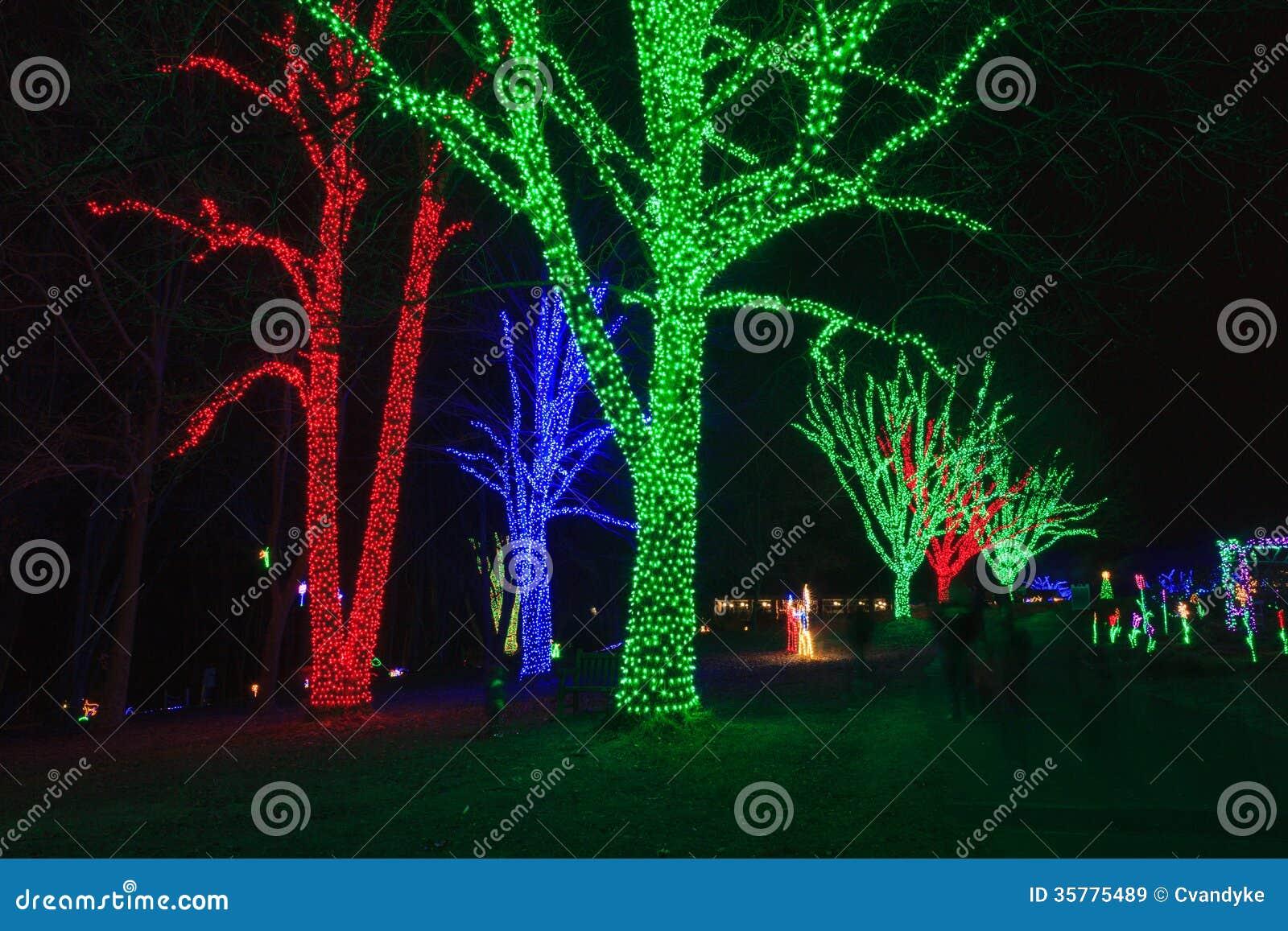Virginia holiday festival of lights stock image image Meadowlark botanical gardens lights