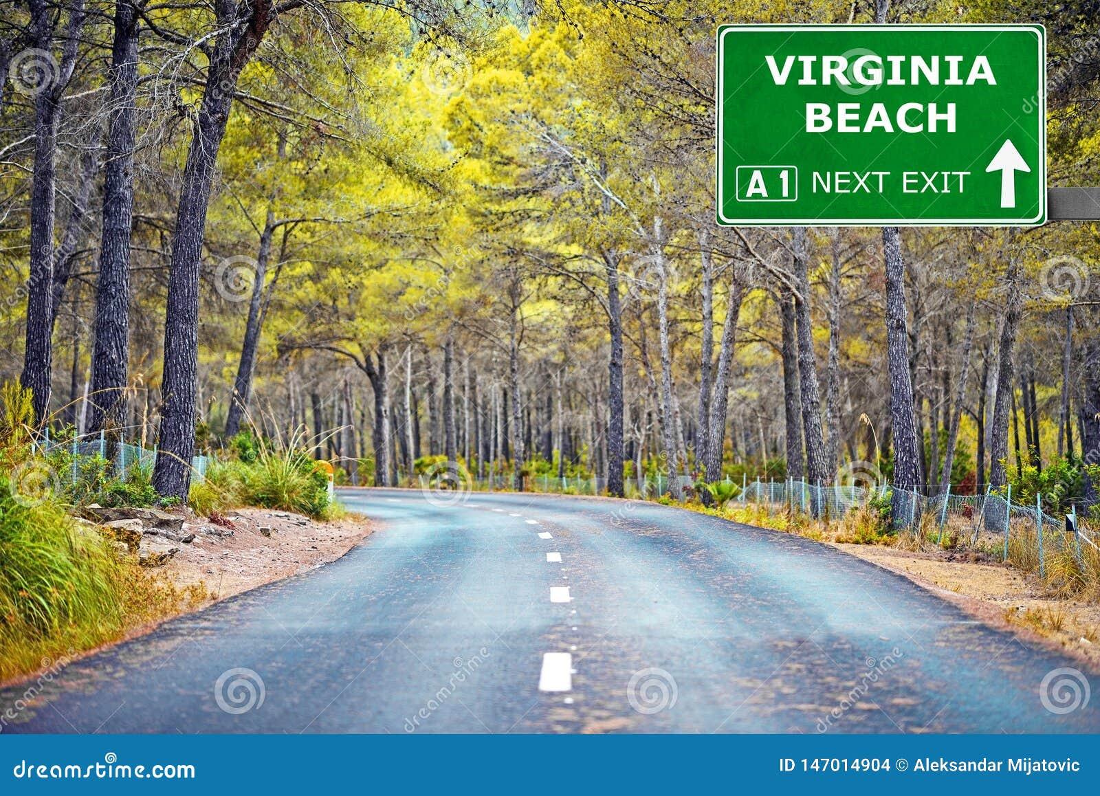 VIRGINIA PLA?OWY drogowy znak przeciw jasnemu niebieskiemu niebu