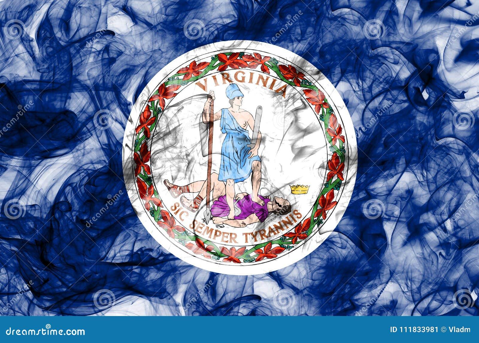 Virginia State Smoke Flag United States Of America Stock Image