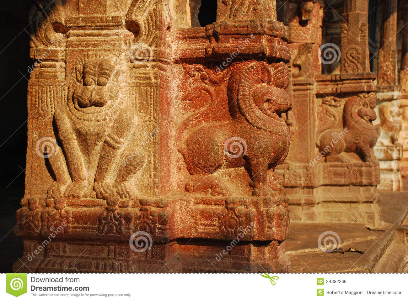 Viripaksha temple hampi stone carvings royalty free