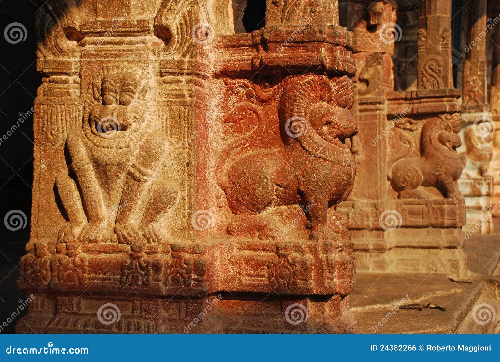 Viripaksha temple hampi stone carvings royalty free