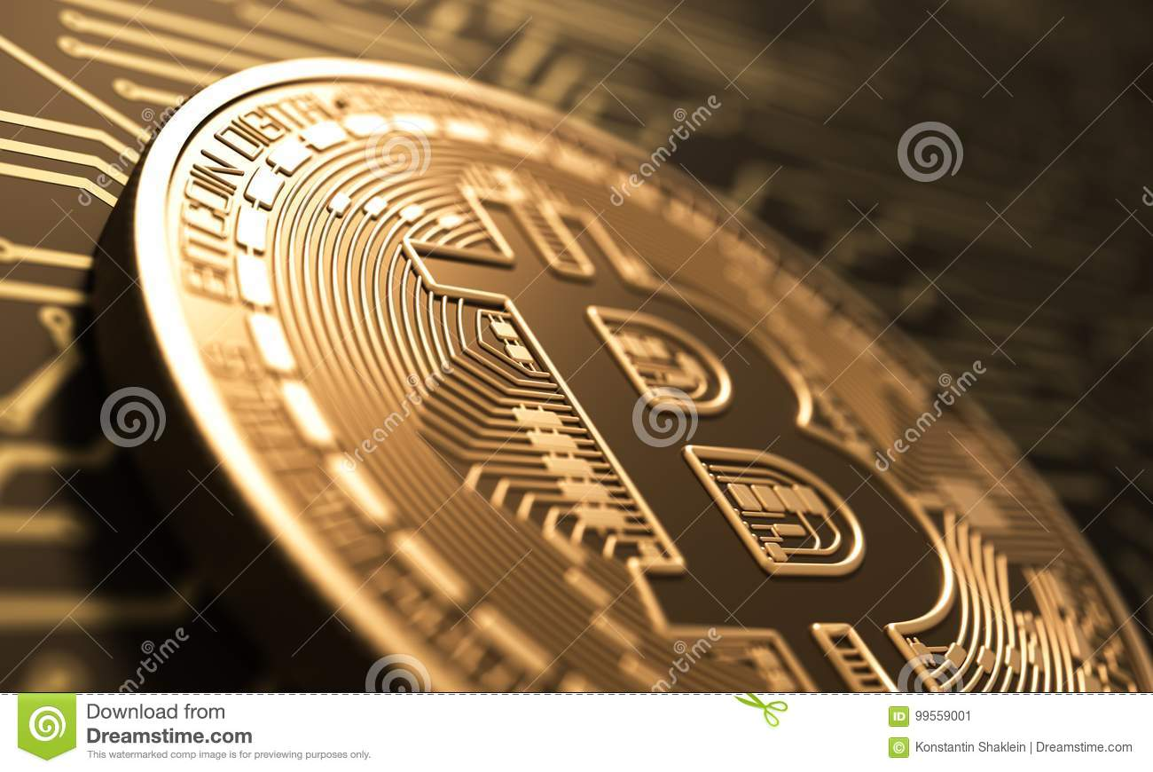 Virtual Coin Bitcoin On Background Of Printed Circuit Board Stock Pcb The Printedcircuitboard 3d Royalty Free Photography Illustration Download Exchange