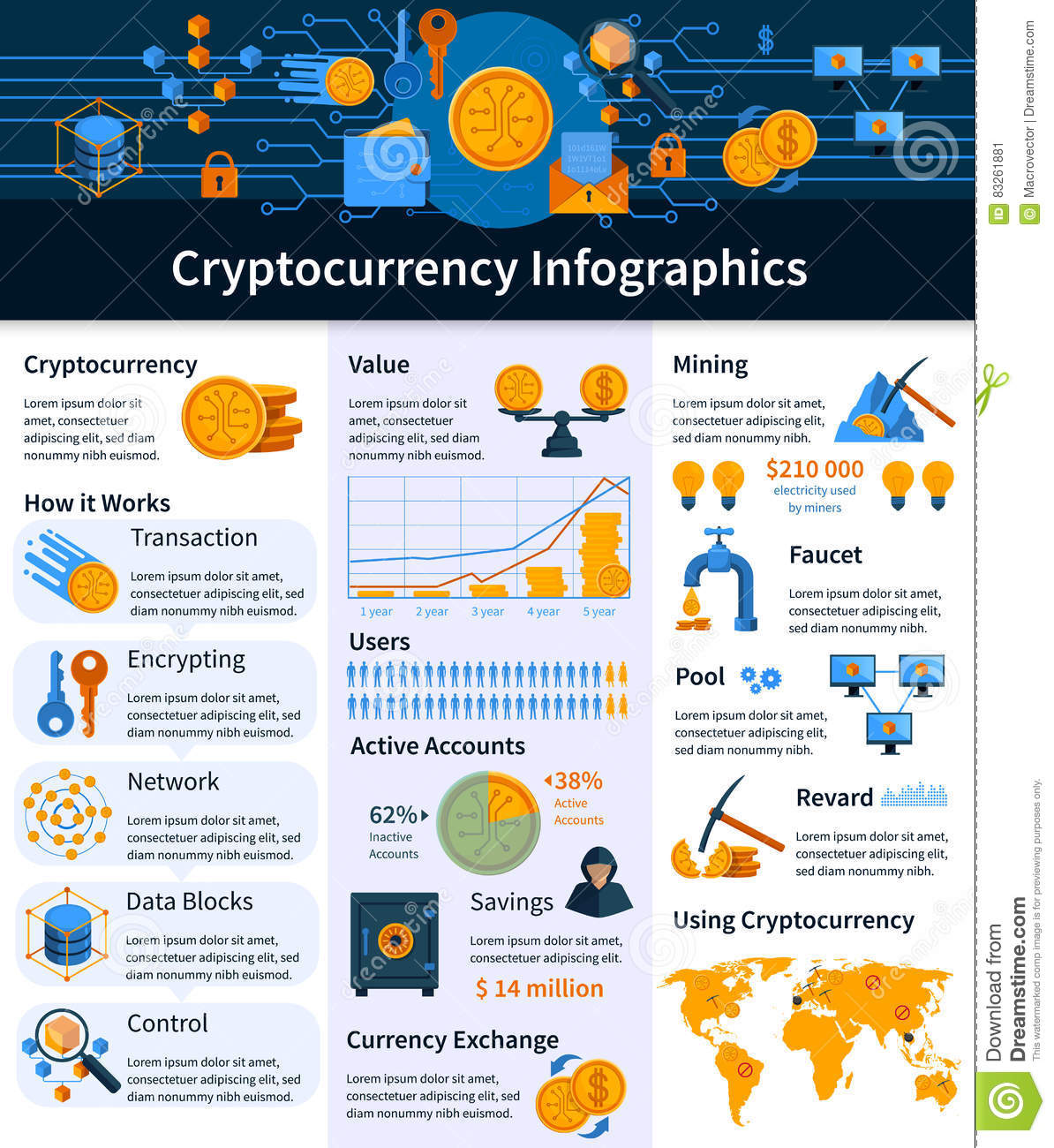 Virtual currency infographics stock vector illustration of virtual currency infographics stock vector illustration of computer elements 83261881 nvjuhfo Images