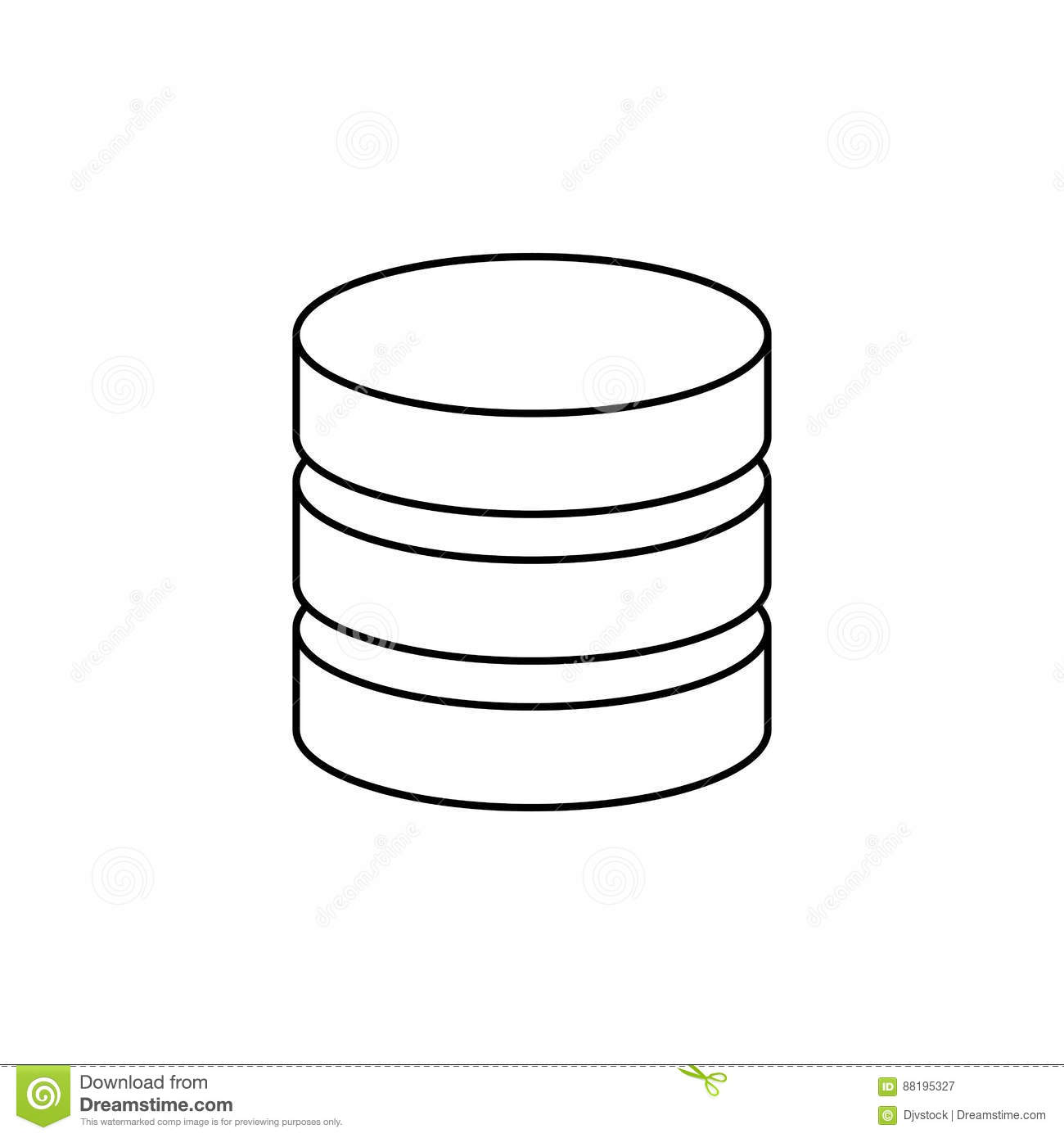 virtual database storage stock illustration