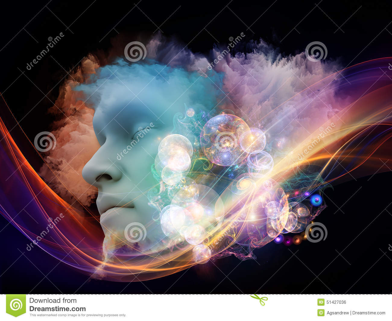 Only Metaphor >> Virtual Dream stock illustration. Image of face, abstract - 51427036