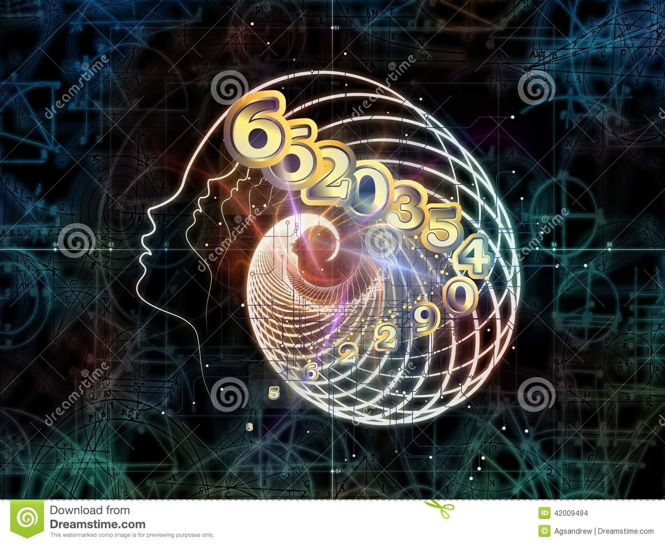 virtual mathematics mdash stock - photo #25