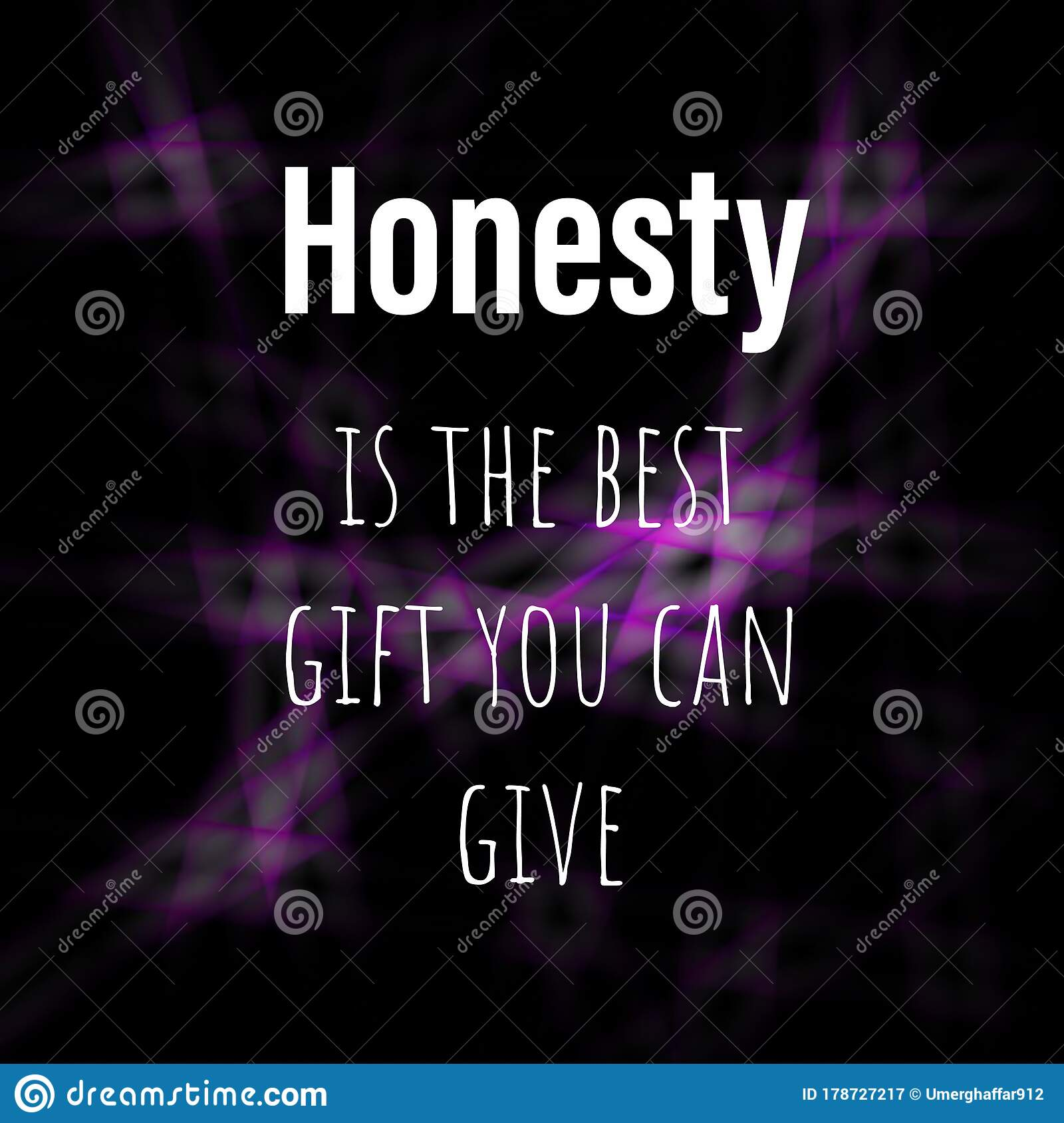 Virtual And Inspirational Quote About Honesty Stock Illustration Illustration Of Life Motivational 178727217
