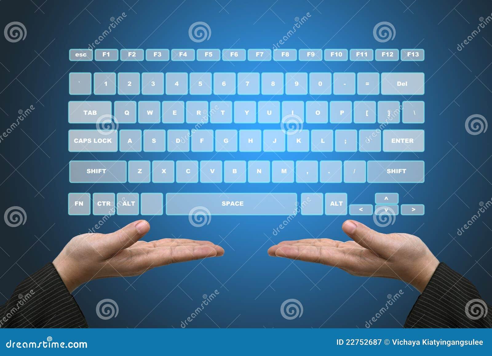 Virtual Keyboard Interface stock image  Image of innovation - 22752687