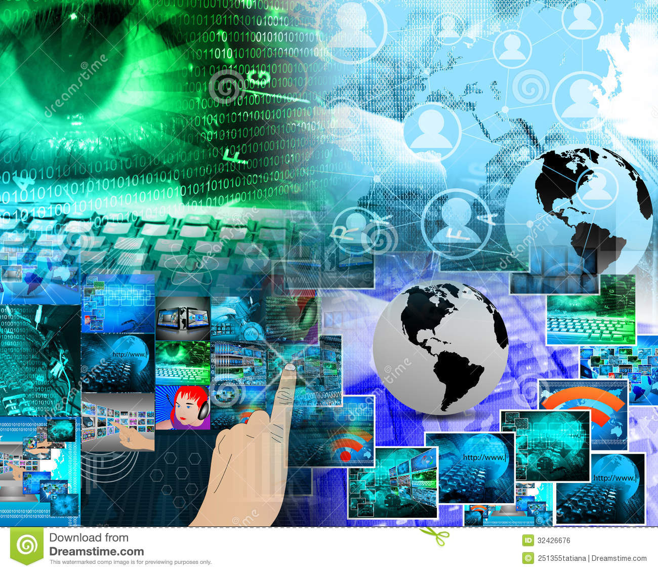 Virtual mix stock photo  Image of network, business
